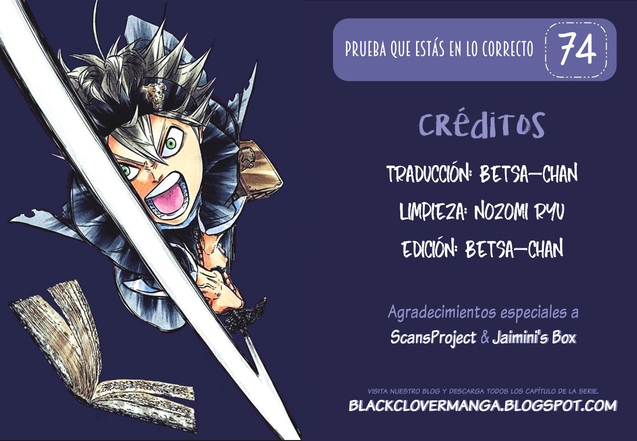 Black Clover· Black Clover Capítulo 74